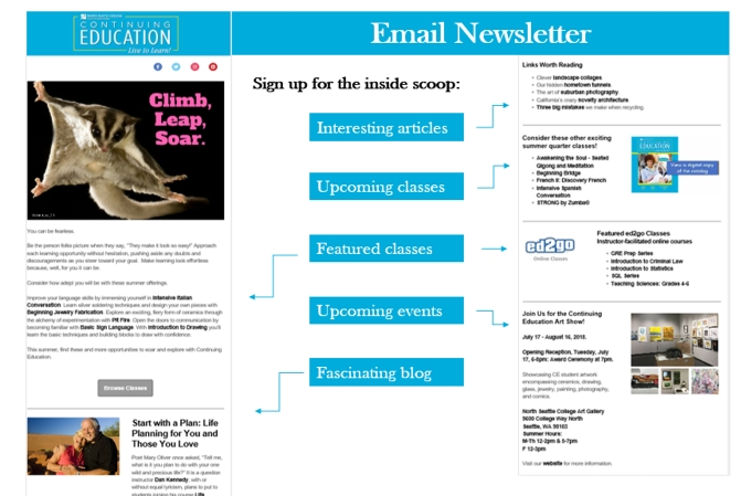 Sample Email Newsletter graphic